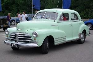 Profil Sjaya-Sedan Chevrolet Fleetline tahun 1948, type yang pernah di beli Pa Miji