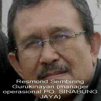 RESMOND SEMBIRING-Manager Operasional PO. SINABUNG JAYA.